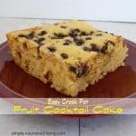Fruit Cocktail Crock Pot Cake