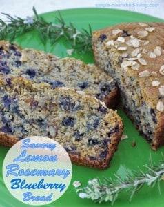 Savory Lemon Rosemary Blueberry Bread Recipe