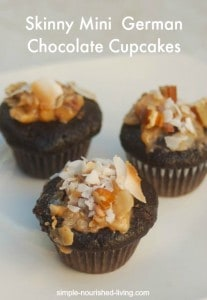 Skinny Mini German Double Chocolate Cupcakes