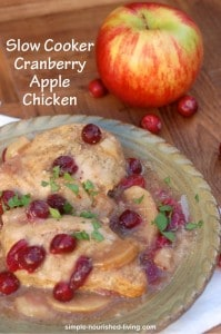Slow Cooker Cranberry Apple Chicken - 4 Weight Watchers SmartPoints