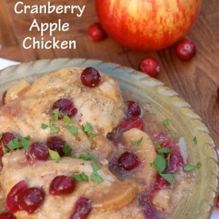 Healthy Slow Cooker Cranberry Apple Chicken – 4 SmartPoints
