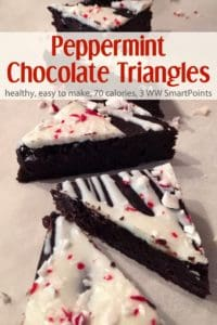 Mint Chocolate Triangles with Mint Candy Icing