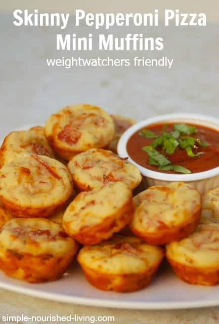 WW Friendly Pepperoni Pizza Mini Muffins