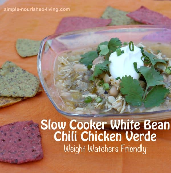 Slow Cooker White Bean Chicken Chili Verde 8 PointsPlus