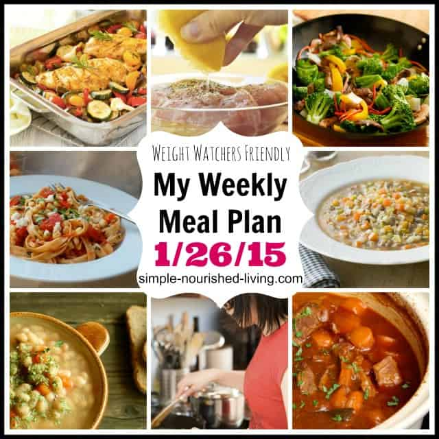 weekly weight watchers meal plan ideas winter 2015