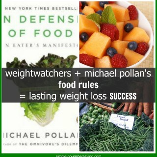 weight watchers + michael pollan's food rules = weight loss success