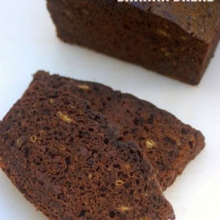 Low Fat Chocolate Banana Bread