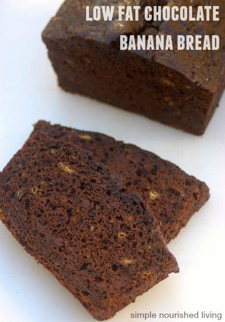 low fat chocolate banana bread for Weight Watchers