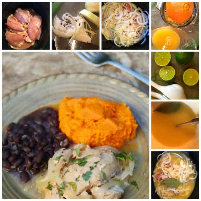 making skinny slow cooker cuban chicken with citrus