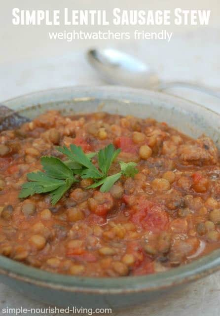 Lentil Stew With Sausage Recipe — Dishmaps