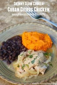 skinny slow cooker cuban chicken citrus