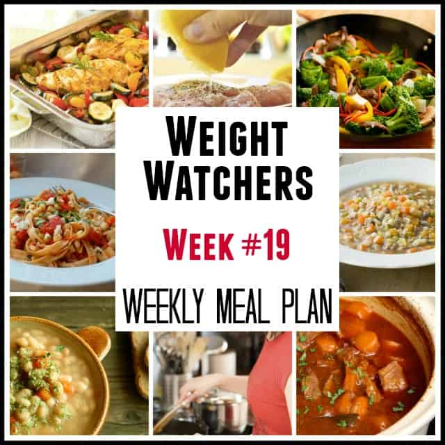 Weight Watchers Weekly Mean Plans Week #19