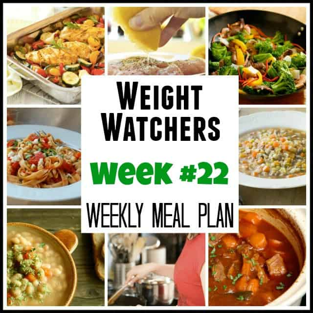 Weight Watchers Weekly Meal Plans #22