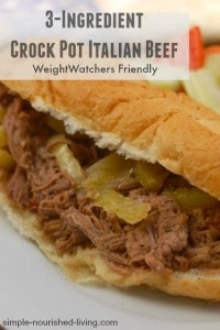 3 Ingredient Weight Watchers Crock Pot Italian Beef
