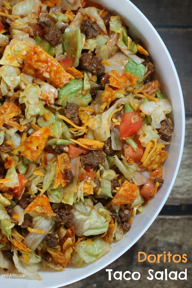 Emily Bite's Doritos Taco Salad from Above