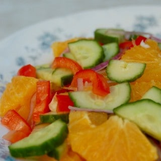 Weight Watchers Orange Cucumber Salad {Simply Filling}