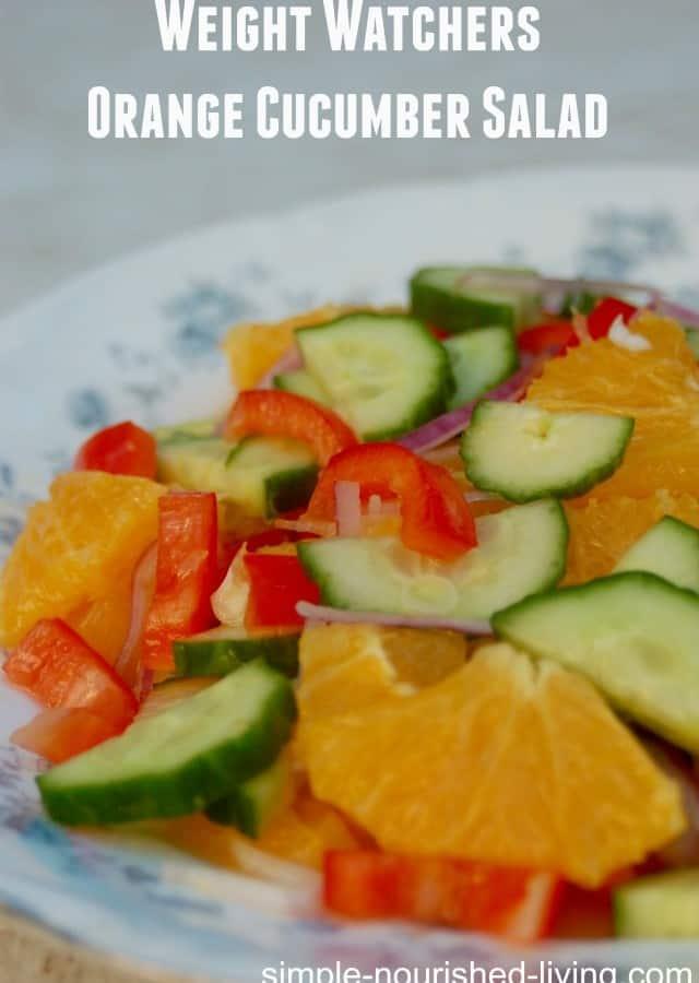 Weight Watchers Orange Cucumber Salad