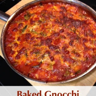 Mom's Baked Gnocchi Bolognese Skillet Made Weight Watchers Friendly