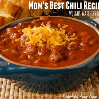 Mom's Best Chili Recipe Ever with Weight Watchers Points