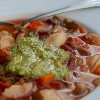 Weight Watchers Friendly Slow Cooker Vegetarian Minestrone Soup - 5 SmartPoints