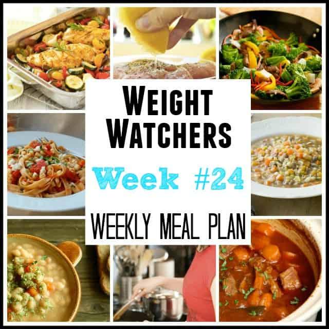 Weight Watchers Weekly Meal Plan Week 24