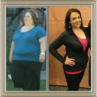 Before and After Weight Watchers Success Story - Melissa K