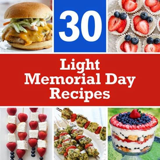 Weight Watchers Recipes 30 Light Memorial Recipes SkinnyTaste