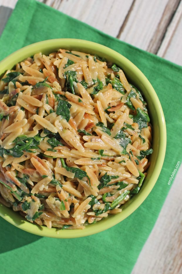 Weight Watchers Recipes Spinach Parmesan Orzo Emily Bites