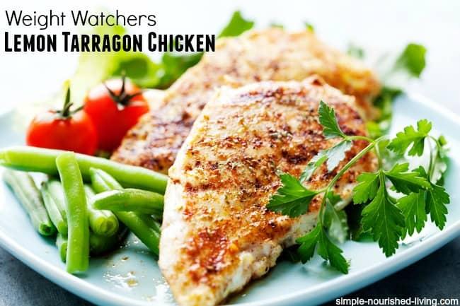 Weight Watchers Grilled Lemon Chicken Breasts with Tarragon