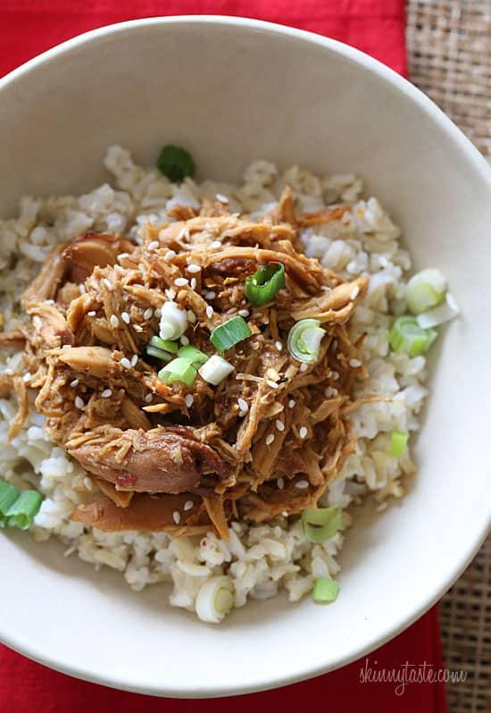 Weight Watchers Recipes SkinnyTaste Slow cooker sesame chicken