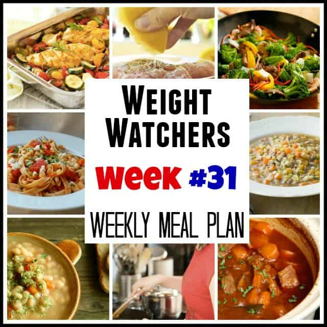 Weight Watchers Weekly Meal Plan 31