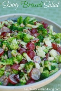 skinny broccoli salad recipe healthy low fat low calorie