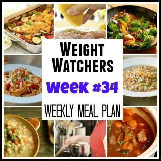 Weight Watchers Weekly Meal Plans: Week #34