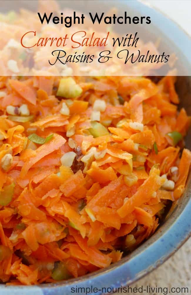 Weight Watchers Carrot Salad with Raisins - 3 WW Freestyle SmartPoints