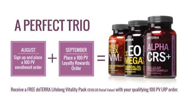 doTERRA August 2017 promotion