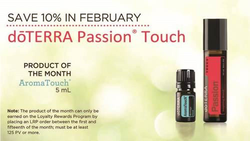 Save 10% in February when purchasing doTERRA's Passion Touch