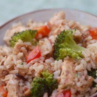Skinny Hot & Cold Chicken Brown Rice Bowl - 9 Weight Watchers SmartPoints