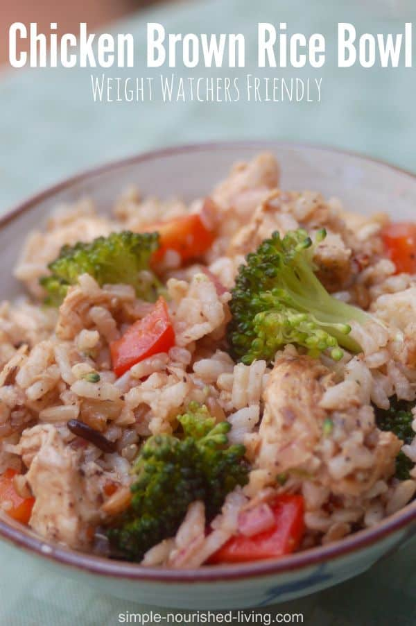 Hot and Cold Chicken Brown Rice Bowl - 9 Weight Watchers SmartPoints