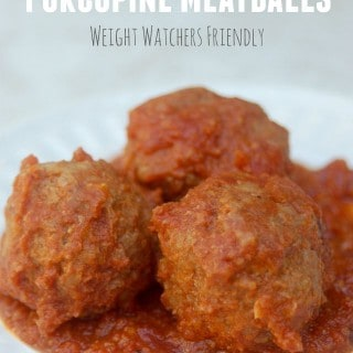 4-Ingredient Skinny Slow Cooker Porcupine Meatballs Recipe