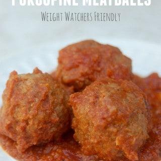 Skinny Slow Cooker Porcupine Meatballs Recipe