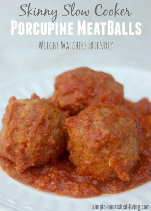 Weight Watchers Friendly Slow Cooker Porcupine Meatballs