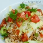 Skinnhy slow Cooker Chicken and Pinto Bean Tostadas Weight Watchers
