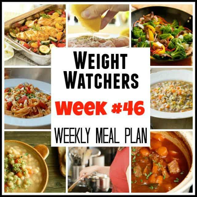 Weight Watchers Weekly Meal Plan Week #46