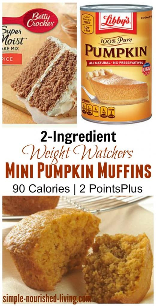 2-Ingredient Pumpkin Spice Cake Mix Muffins for Weight Watchers