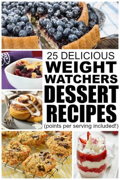 weight watchers recipes for desserts