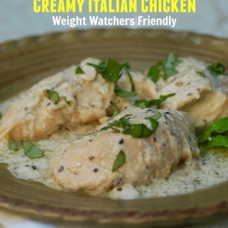 Weight Watchers 3-Ingredient Slow Cooker Creamy Italian Chicken