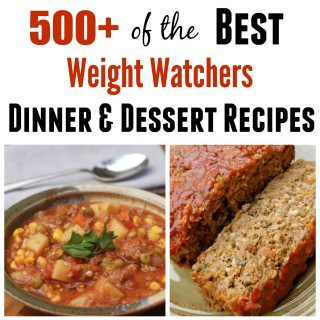 500 Best Weight Watchers Recipes Dinner and Desserit