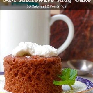 Weight Watchers 3-2-1 Microwave Mug Cake – 3 SmartPoints