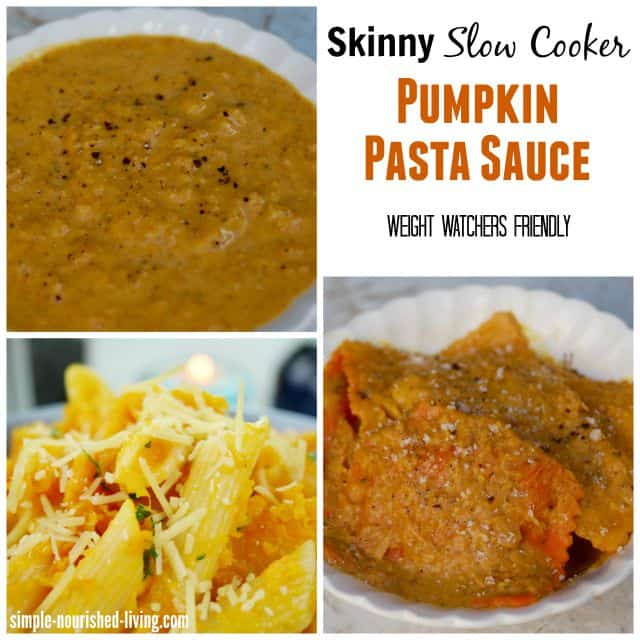 Skinny Slow Cooker Pumpkin Pasta Sauce for Weight Watchers