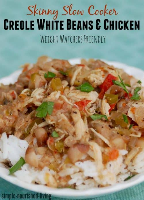 skinny slow cooker creole chicken white beans